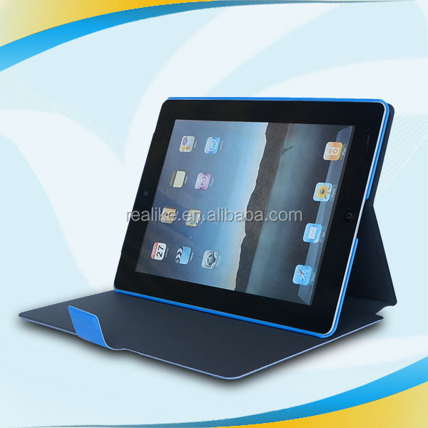 New design and bright color wake up function leather case for ipad min