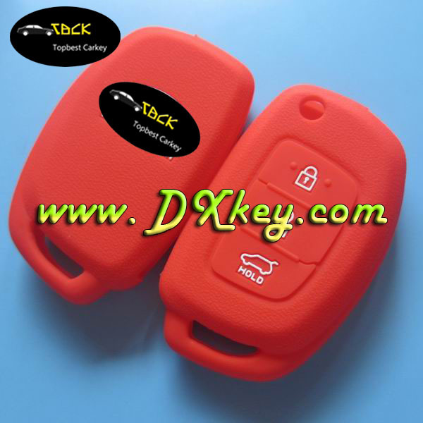Best price 3 button silicone car key cover for hyundai remote key case hyundai silicone key cover
