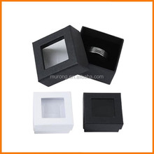 Transparent open jewelry ring box