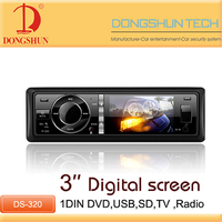 Universal player single din car radio with AUX