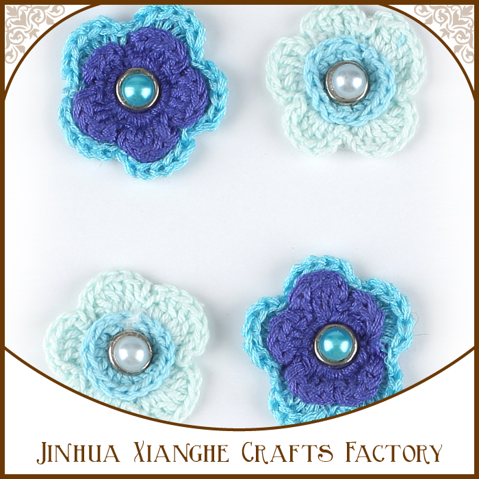 Hermosa colección de patrones decorativos punto de ganchillo flor ...