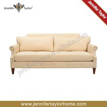 american design contemporary style solid off white color 3 seat living room upholstered fabric brand sofa