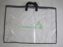 PE transparent clear zipper bag with handle pillows
