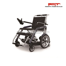 Folding Power Commode Wheelchair Lithium Ion Battery,lightweight Electrical Folding Backrest Wheelchair Stretcher Ramp