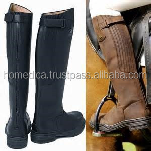 Horse riding leather long boots