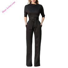 Sexy Black Evening Jumpsuits Women 2017