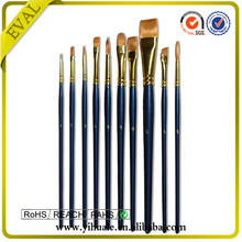 2015 High Quality golden synthetic artist brush