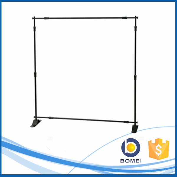 Portable aluminum background telescopic backdrop display stand, adjustable banner stand