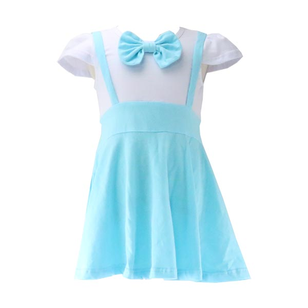 2017 new style baby fashion dress collar with bow-knot clothes girls knit frocks design sweet princess dress