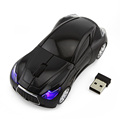 Personalized sports car shape wireless 3D fcc standard optical mouse