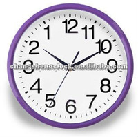 26 cm anticlockwise wall clock plastic wall clock morden design