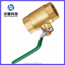 fully threaded full port ball valve brass long aluminum/zinc alloy handle ball valve water valve