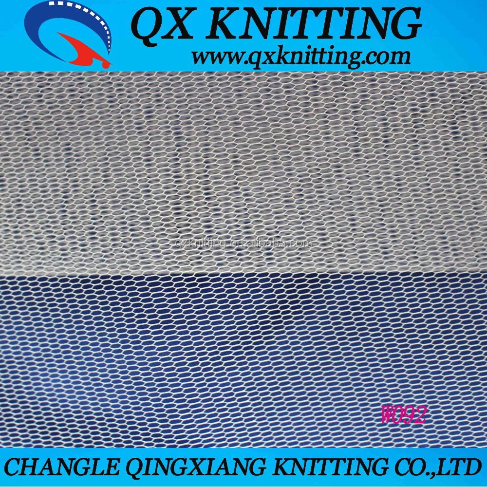 100% Polyester Stiff Mesh Fabric for Home Textile