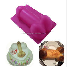 B0269customized sexy penis shape FDA silicone dessert/pastry/cake decorating mold