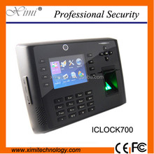 Fingerprint time attendance with camera GPRS 3G WIFI fingerprint access control iclock700 with battery