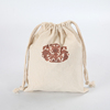 extra large cheap drawstring cotton bag with logo printed