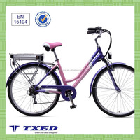 700C lady's Lithium battery cheap city Electric Bicycle