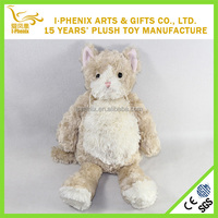 Brown Eco-friendly cat plush stuffed doll for children from china