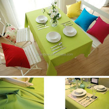 New Arrival Cheap Mint Green 130cm*170cm 100% Linen Cutting Table Cloth Designs For Home Decoration B003