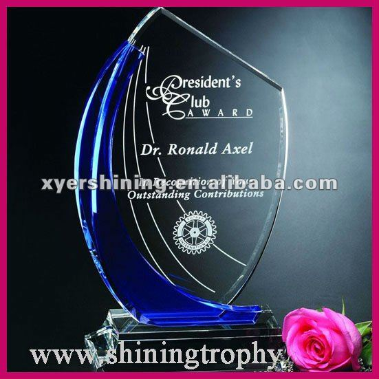 High Grade Crystal Soccer Trophies Sports Souvenirs