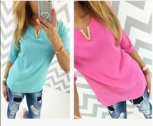 2016 latest eight color designs small v neck chiffon women blouse model of casual blouses clothes womens ZC1987