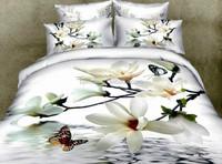 Sheet indian silk bedding set black and white bedding