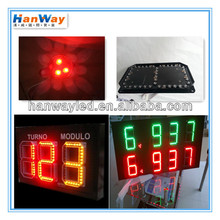 yellow outdoor programable Led gas price sign petrol fuel station display board