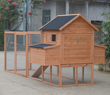 Luxury Easy Clean Large Chicken Coop Hen House Run Outside