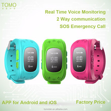 GSM personal SOS button GPS tracker hand watch small size mobile phones price