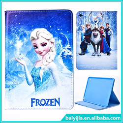 For iPad mini 4 Cartoon Frozen Leather Case
