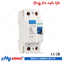 A type 500ma 300ma 100ma 30ma 10ma rccb single phase elcb 2p residual current circuit breaker
