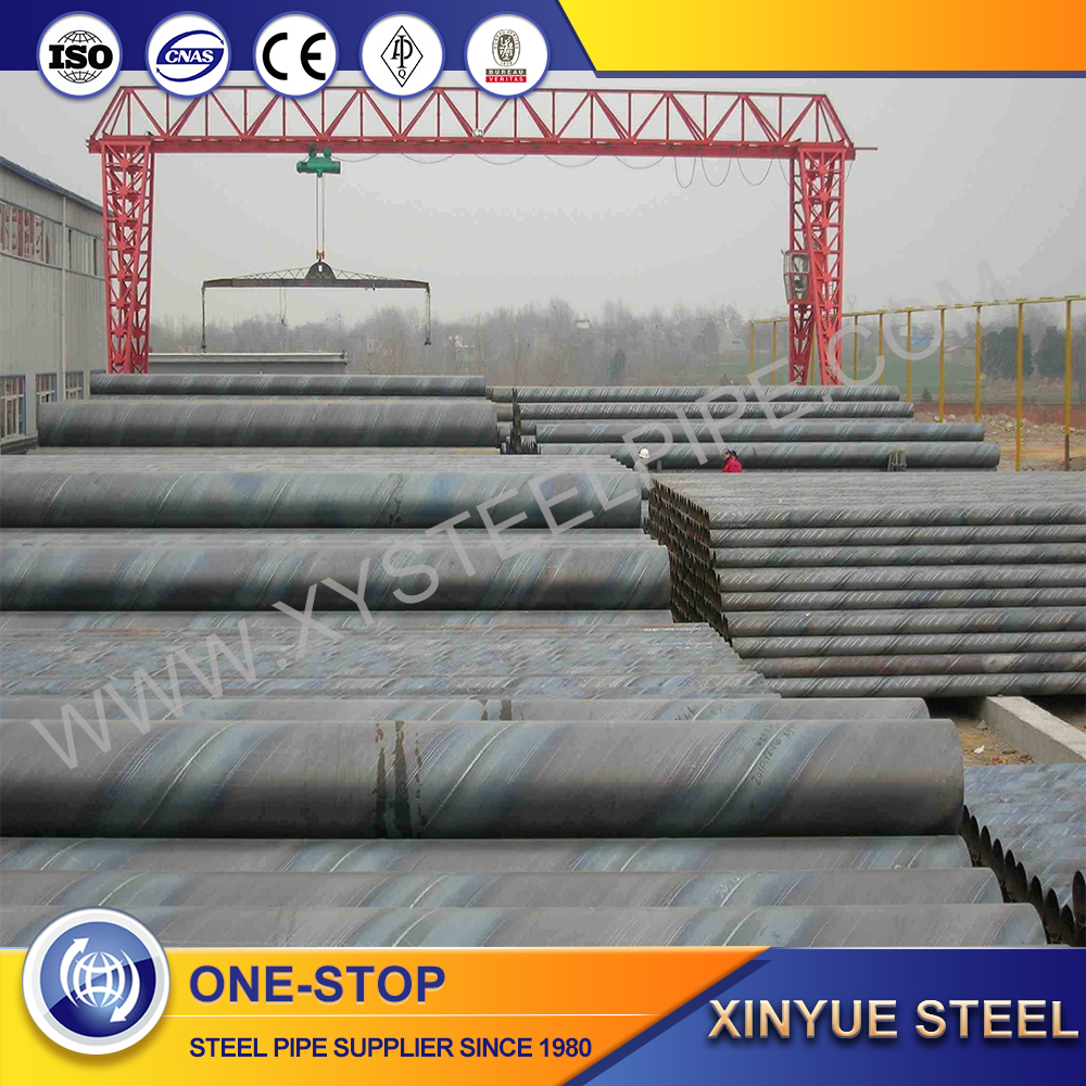 ssaw welded spiral steel pile pipe, api 5l x56 ssaw sprial steel pipe
