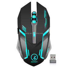 Built-in Battery Noiseless Click USB 6D 2.4Ghz Gaming Wireless Rechargeable Mouse