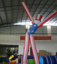 inflatable waving holiday advertising single leg air dancer for sale