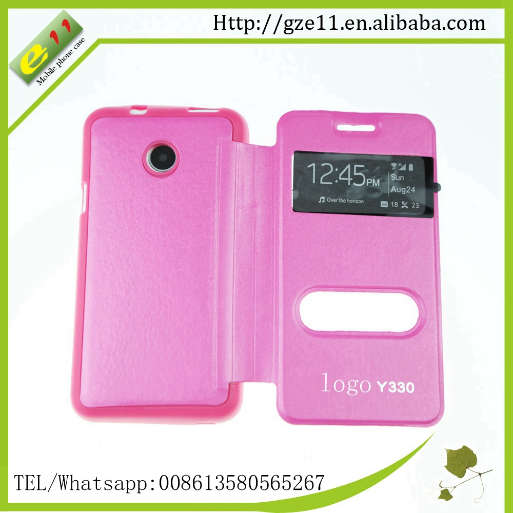 factory price for huawei cell phone covers double window mobile case