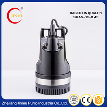 Competitive price ac 220V aluminum casing centrifugal electric high pressure submersible pumps high lift water pump