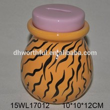 Lovely design colorful ceramic coin jars