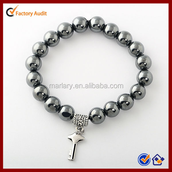Stainless Steel Fashion Good Health Care Hematite Bead X Power Energy Bracelet