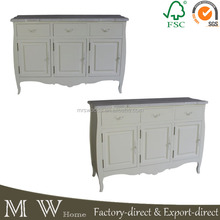 3 doors 3 drawers cream shabby chic dining room french sideboards, sideboard wood, furniture sideboard