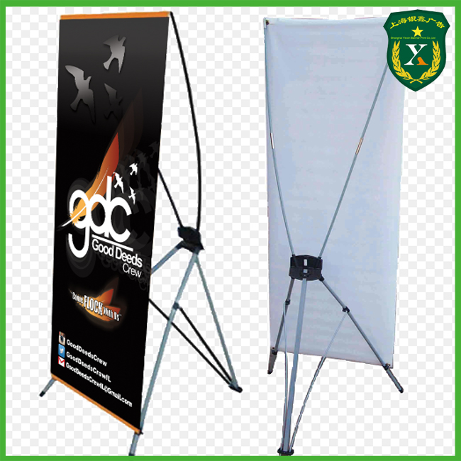 Factory supply exhibition trade show X banner stand display for advertising