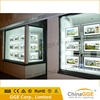 Stylish led advertising crystal restaurant menu LED light box with transparent panel
