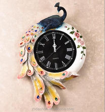 antique silver resin decorative wall clock