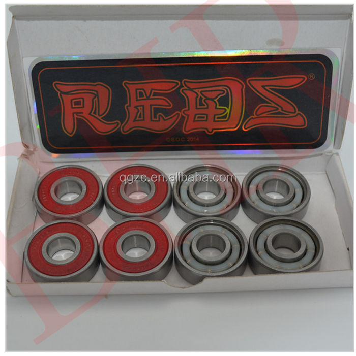 High Precision skate long board scooter bearing wheel hybrid bearing 608 8*22*7 mm with 8 pc in a box