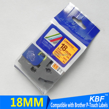 Compatible fluorescent tape P-touch TZ tape cartridge TZ-B41 18mm printer ribbon