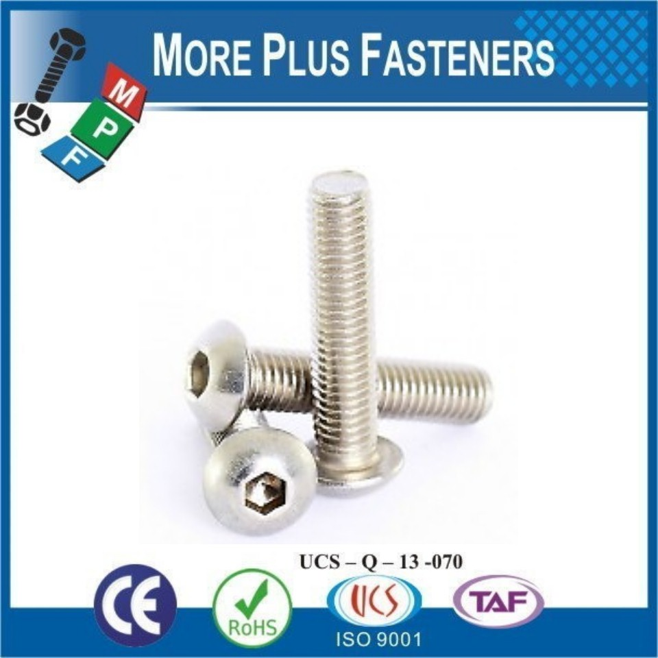 Made In Taiwan ISO 7380 Alloy Steel Zinc Plated Metric Thermal Black Stainless Steel Button Socket Head ISO 7380
