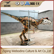 Eco-friendly reclaimed material hand made dinosaur costume