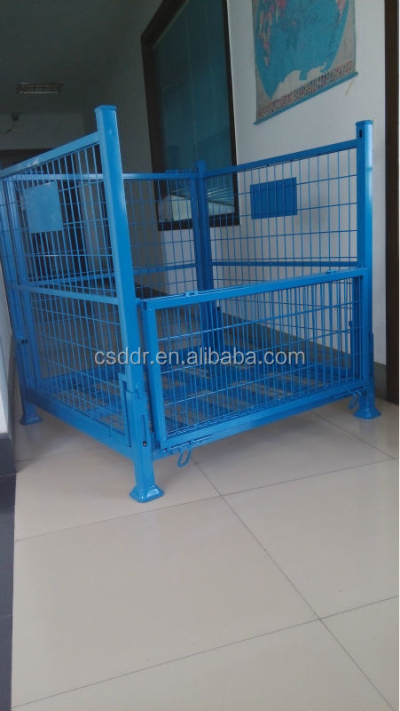 China supplier mesh box wire cage metal bin storage container