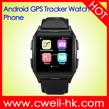 TWATCH X02 1.54 Inch IPS Screen GPS Tracker Android 4.4 Mobile Watch Phone Dual Core RAM 512MB ROM 4GB WIFI Heart Rate Monitor