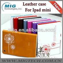 Dandelion Folio Leather Case for Ipad mini case