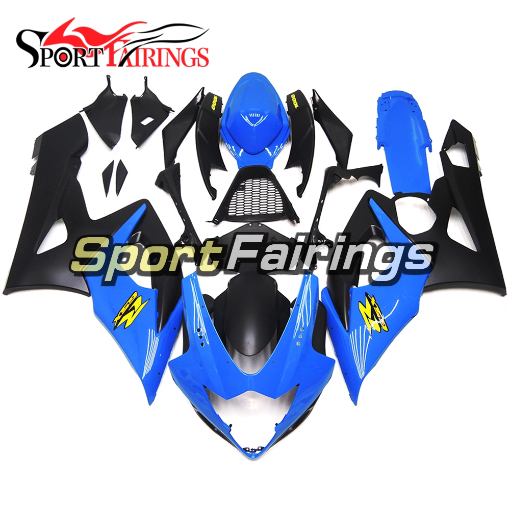 Injection Fairings For Suzuki GSXR1000 K5 05 06 2005 2006 ABS Complete Motorcycle Fairing Kit Fittings Light Blue Black